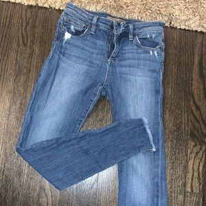 Joes Jeans with frayed ankle
